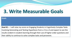 self evaluation sample write measurable goals n