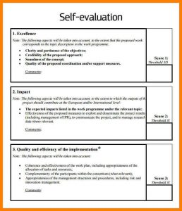 self evaluation sample self appraisal examples self evaluation example