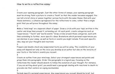 self reflection essay reflective essay