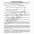 separation agreement template separation agreement form template