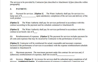 service contract template professional computer service contract template pdf download