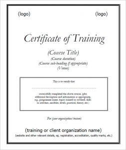 service dog certificate pdf trainingcertificatetemplate pdf