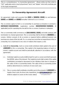 settlement agreement sample co own sample