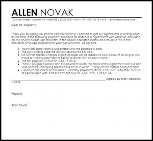 settlement agreement template payment arrangement agreement letter