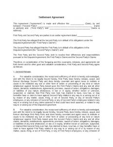 settlement agreement template settlement agreement template
