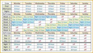 shift schedule template shift schedule template slide