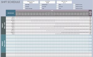 shift schedule templates free daily schedule templates for excel