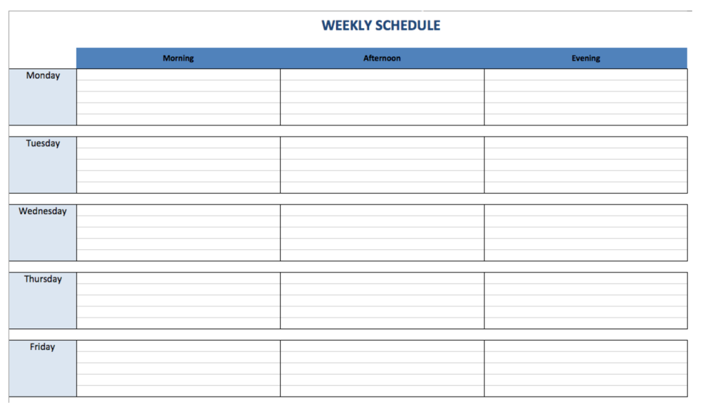 shift schedule templates