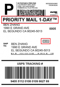 shipping label example blog priority mail date specific label