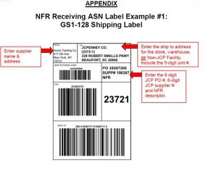 shipping label example image x