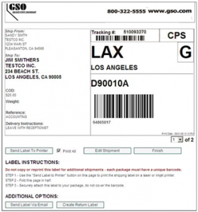 shipping label example sm label