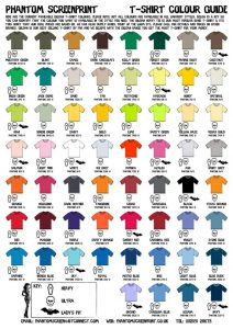 shirt order form template tshirtcolourguide