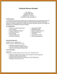 short auto biography first resume template no experience administrative assistant resume no experience