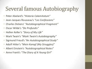 short biography templates an introduction to autobiography and biography