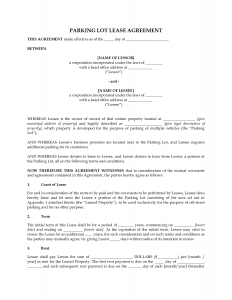 short rental agreement agreement templates perfect lease agreement template sample for parking lot with effective date and between two parties