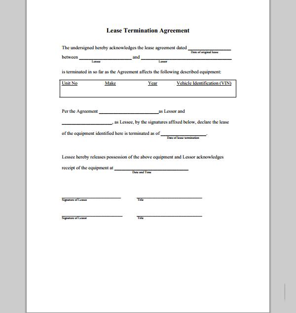 short rental agreement