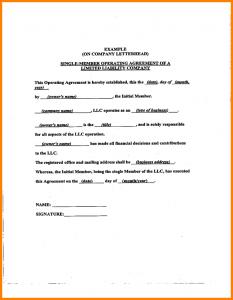 short rental agreement operating agreement samples sample llc operating agreement sample l