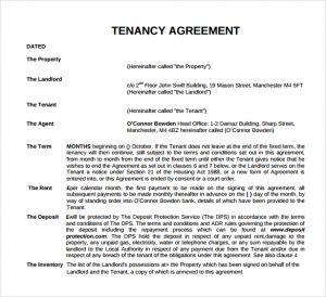 short rental agreement tenancy agreement template
