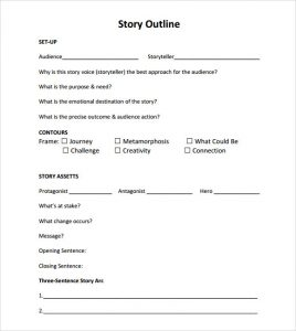short story outline story outline template pdf