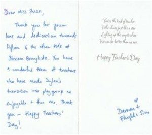 short thank you letter for teacher thank you note