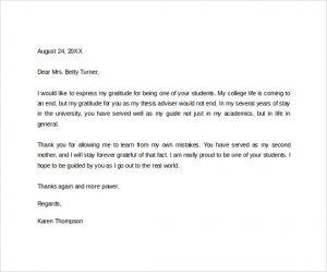 short thank you letter for teacher sample thank you letter to a teacher