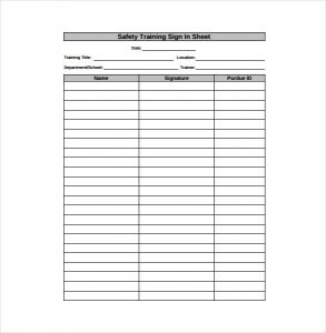 sign in sheet pdf safety training sign in sheet pdf format free download
