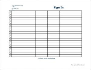sign in sheet pdf sign in sheet