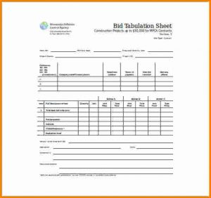 silent auction sheet bid sheet template bid tabulation sheet word template free download