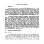 simple business case templates effective opening statement