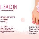 simple business case templates nail salon and spa business cards