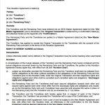 simple business case templates novation agreement sample