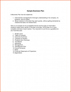 simple business plan example simple business plan template