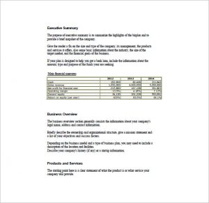 simple business plan template simple business plan format