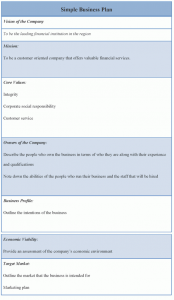 simple business plan template simple business plan template x
