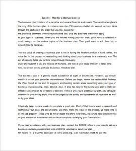 simple business plan template word simple business plan example