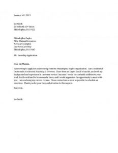 Simple Cover Letter Sample | Template Business