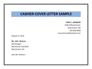 simple employment application cashier cover letter sample pdf