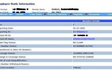 simple employment application print sss employee static info e