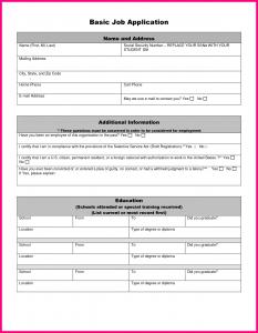 simple employment application simple job application