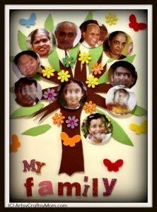 simple family tree family collage diy craft