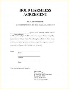 simple hold harmless agreement hold harmless agreement