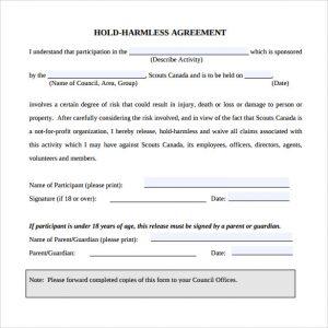 simple hold harmless agreement hold harmless agreement pdf