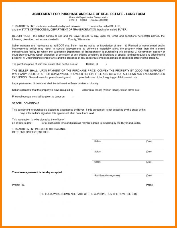 simple home purchase agreement