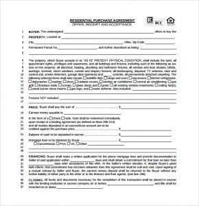simple home purchase agreement simple real estate agreement template