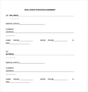 simple land purchase agreement form real estate purchase agreement