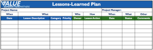 simple lesson plan template word lessons learned plan value generation partners