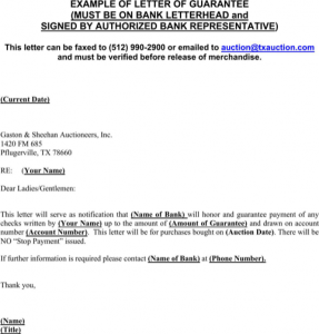 simple loan agreement pdf guarantee letter sample