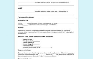 simple loan agreement pdf personal loan agreement form for pdf