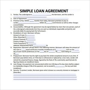 simple loan agreement simple loan contract template