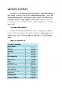 simple marketing plan template small step child care business plan